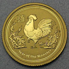 Australia 1/20 oz Lunar II Rooster Rooster 2017 999 Feingold Gold Gold coin
