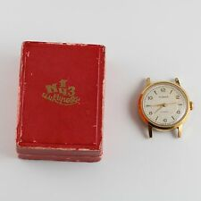 ANTIQUE VINTAGE RUSSIAN USSR SOVIER WRISTWATCH POBEDA GOLD PLATED 15 JEWELS