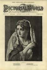 "1876 ""Hinda"" Portait From Picture By F Wyburd"