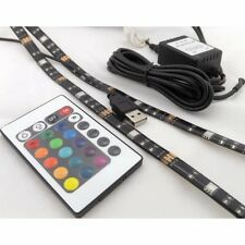 USB LED striscia flessibile TV Retroilluminazione 2 x 50 cm TELECOMANDO IP65 LED STRIP