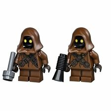 LEGO STAR WARS LOT OF 2 MINIFIGURE JAWA WITH BLASTER GUN SANDCRAWLER 75059