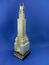 Chrysler Building Skyscraper New York Christmas Ornament Glass Travel  NWT 20087