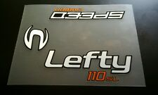 Sticker Decal Set for Cannondale Lefty CARBON DLR 110 SL SPEED Fork White/Orange