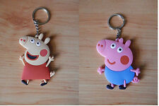 PEPPA PIG GORGE  KEY CHAIN SOFT PLASTIC SET 6 CM LLAVERO NEW