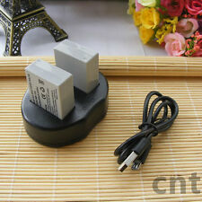 2X NB-10L Battery + USB Dual Charger For Canon G16 G15 SX50 HS SX40 HS G1 X