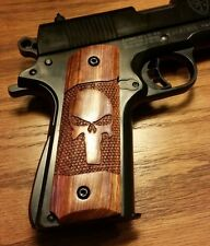 Full size 1911 Caribbean Rosewood Grips with Skull Engraving