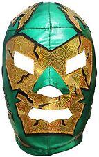 Dr. Wagner Lucha Libre Mask One Size Lycra Green Golden Hologram