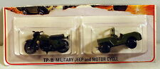DTE CUT CARD LESNEY MATCHBOX TWIN PACK TP-11 MILITARY JEEP & MOTORCYCLE NIOP
