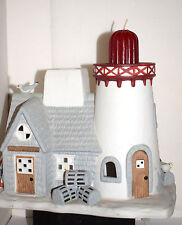 Estate=Christmas = Train village:Party Lite Candle, Light House Sea Gulls LOOK