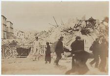 Messine Italie Italia Séisme Tremblement de terre 28-12-1908 Tirage argentique