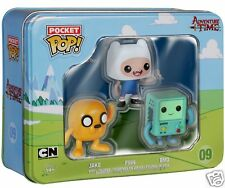 Funko Pocket Pop! 3 Paquete De Estaño Adventure Time Con Finn, Jake BMO-Nuevo &