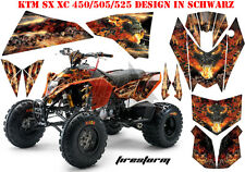 AMR Racing DECORO GRAPHIC KIT ATV KTM 450 505 525 SX XC Firestorm B