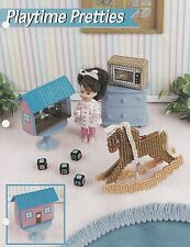 Playtime Pretties, Annie's Doll Furniture Plastic Canvas Pattern Leaflet FP42-02