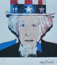 ANDY WARHOL UNCLE SAM - USA SIGNED +  HAND NUMBERED 4216/5000 LITHOGRAPH