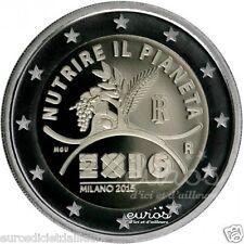 """Pièce 2 euros ITALIE 2015 - """"Exposition Universelle de Milan"""" - UNC"""
