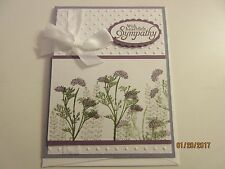 Handmade Sympathy Card Purple thistles- using Stampin' Up products
