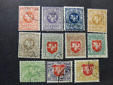 "LITUANIA, LITHUANIA,LIETUVA 1919 ""STEMMA Colori modificati "" 11V.Cpl set MH/USED"
