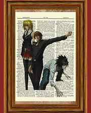 Death Note Anime Dictionary Art Print Poster Picture Japanese Light L Misa Book