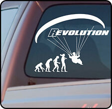 Paragliding paraglider vinyl sticker decal - REVOLUTION