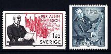 SWEDEN - SVEZIA - 1985 - 100° della nascita di Albin Hansson e Birger Sjöberg -
