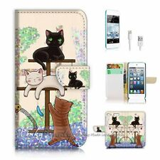 iPod Touch 6 iTouch 6 Flip Wallet Case Cover! P1944 Cat