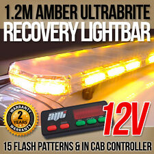 "12v LED Light Bar Amber Strobe Beacon Recovery 120cm 1200mm 1.2m 48"" 4ft Length"