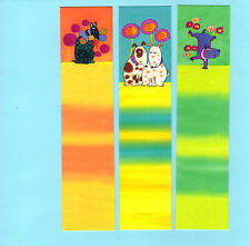 3x Dogs Puppies Canine Lover Bookmarks School Gft Stocking Filler Party Bags Lot