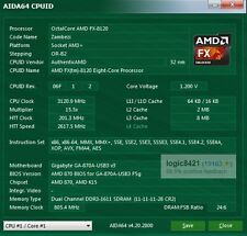 AMD FX-8120 3.1GHz Eight Core FD8120FRW8KGU Processor AM3+