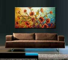 Modern Hand-Paint Abstract Wall Decor Oil Painting on canvas,Sunflower(No Frame)