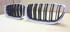 Front Kidney Grille Chrome Frame+Black Fence M5-Look For BMW F10,F11,2010-2014