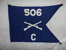 flag842 WW2 US Army Airborne Guide on 506th Parachute Infantry Regiment C Co W9A