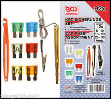 BGS - Car Fuse Boxed Set, Inc Puller & Tester, 5 - 30 Amp - 92 Pcs - 8124