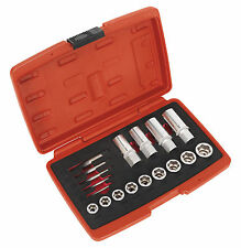 SEALEY Damaged/Rounded Bolt Nut Stud Screw Remover/Extractor Set + Case AK751