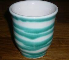 1 Becher  /  Milchbecher  Punschbecher  Gmundner Keramik Grün geflammt