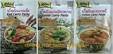 3 Packets of Lobo Thai Curry Paste. MSG Free Red, Green & Yellow