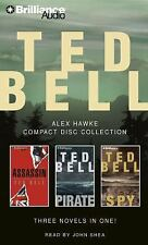 TED BELL CD COLLECTION (3 audiobooks in 1) Titles included ASSASSIN, SPY, PIRATE