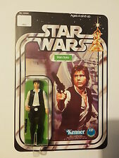 VINTAGE STAR WARS HAN SOLO FIGURE 12 BACK Big head MINT Recard