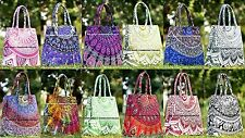 10Pc Wholesale Lot Indian Cotton Handbag Mandala Shoulder Bag Floral Tote Bag