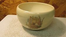 Antique Coors Pottery Thermo Porcelain Bowl Window Scene