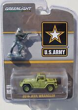 GREENLIGHT HOBBY EXCLUSIVE U.S. ARMY 2016 JEEP WRANGLER & SOLDIERS FIGURE