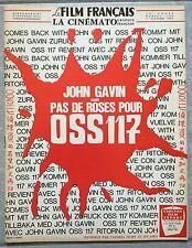 LE FILM FRANCAIS Cinématographie Française PAS DE ROSES POUR OSS 117 1967 *