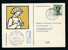 60083) Ballonpost FDA Fred Dolder Schlieren - Hohenweiler 19.9.53,   BRD