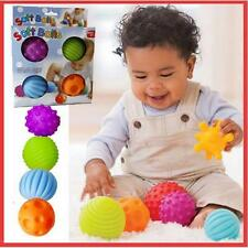 4x Baby Sensory Massage Soft Ball Rollers Tub Swimming Pool Bath Educational Toy