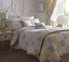 Jaune gris floral patchwork 66x72 crayon plis thermique doublé rideau rideaux