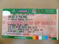 Tickets- World Cup 2006 Qualifier- WALES v POLAND, 13 October 2004
