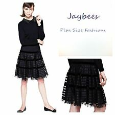 Glamour Collection Size 20 Simply Fab Black Vintage Look Ribbon SKIRT Be £49