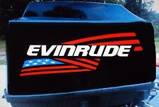 2 - Evinrude flag Outboard decals marine vinyl 15 inch