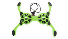 Mini Folding Chill Pad Laptop Notebook Cooling Fan Stand with 2 Fans - GREEN
