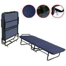 GOPLUS Folding Bed Foam Mattress Twin Roll Away Guest Portable Sleeper Cot Navy