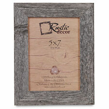 "5x7 - 1.25"" Wide Standard Reclaimed Rustic Barn Wood Photo Frame"